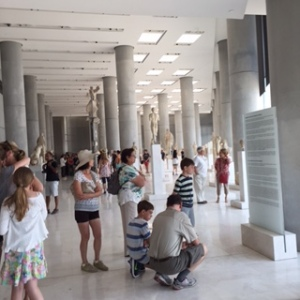 The amazing Acropolis Museum in full swing