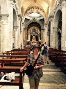 Ann at St Maria del Popolo Renaissance church in which can be found Carravagio's