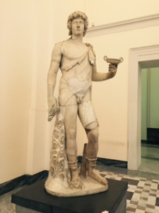 Bacchus in Naples archaeological museum; Farnese collection