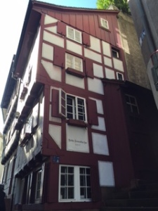 early C16th Basel home -serious contrast to Florence