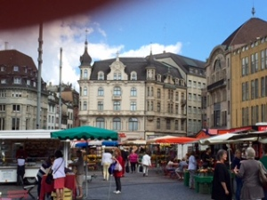 Basel old town and market