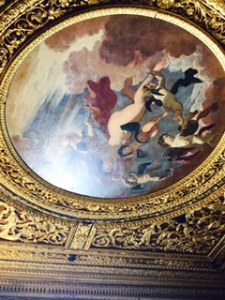 One of the many extraordinary ceiling paintings in the 43 presentation rooms of the Mantua Ducal Palace.