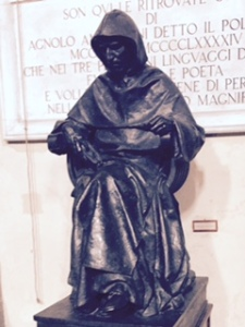 sculpture of Savaronola, Florence's brave and highly successful reformer until overpowered and burnt at the stake by his opponents