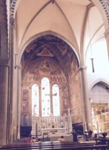 Sanctuary of St Maria Novella church Florence