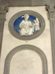 One of 14 roundels in Pazzi Chapel depicting the apostles -designed by Brunelleschi