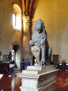 Donatello's lion statue in the Bargello (No Michelangelo photos because of pressure from staff!)