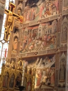 Frescoes in Sanctuary of Santa Croce church