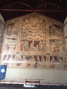 Taddeo fresco of Last Supper in hall attached to Santa Croce church in Florence