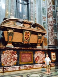 Extraodinary size of Medici tombs in the Capella dei Principe ..the principal chapel of the Medici family