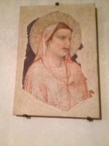 ;Giotto fresco in chapel next to Santa Croce church
