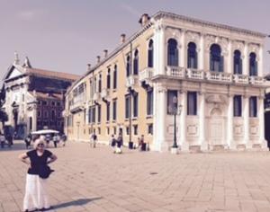 High end cultural architecture in the Campo Francesco Morosini Venice