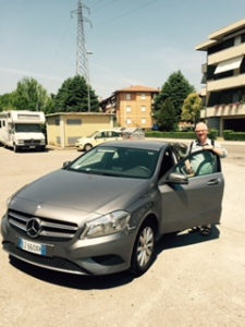 Our small diesel Mercedes-Benz has a very effective air con and has carried with speed and comfort around Tuscany. Tomorrow we will drive via Ravenna to Padua