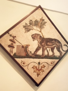 Mosaic floor tile from Pompeii, Naples Museum of Archaeology
