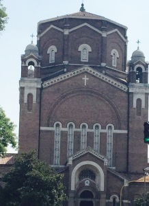 Exterior of Padua Jesuit church 1921. In appearance  looks like an Orthodox Church