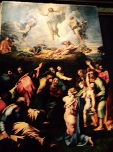 Raphael's Ascension of Christ combines an ethereal event with human commotion, faith and fear