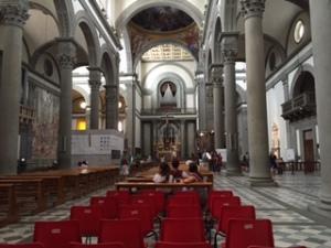 San Lorenzo Renaissance church Florence interior
