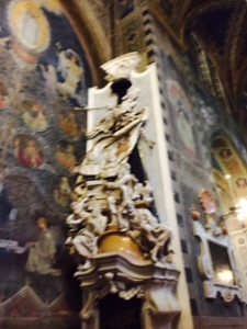 Skeleton blowing his horn at the resurrection on the last day..getting in early at St Anthony's Padua