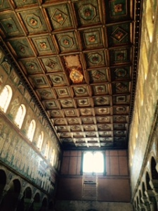 Wooden roof in St Appolonius Church in Ravenna.  A former Arian church taken over by the Greek speaking Byzantine church