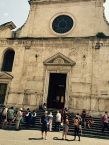 External view of St Maria del Popolo Renaissance Church