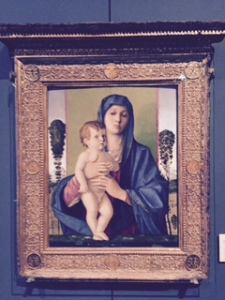 Accademia: Giovani Bellini: Madonna and Child..we have seen so many but this one had a special appeal to us.