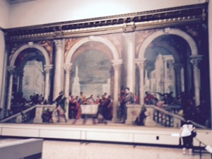 Accedemia: Veronese: The Last Supper ...rejected by the church and had to be defended at the Inquisition. Eventually renamed as dinner at Tax Collector's House. Massive painting covering whole wall of gallery