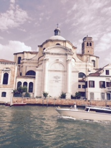 The final Venice church to be seen from the Grand Canal as we approached the station. Soon after this photo was taken a major drama occurred as a passenger lost his bag overboard whilst taking a photo; I believe he retrieved the bag, not sure in what condition