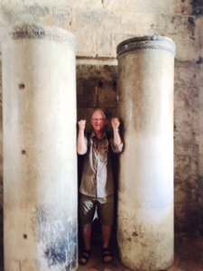 Columns from the original Doge's Palace in the museum on the ground floor. Richard is no Samson!