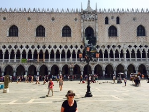 The Doge's Palace in St Mark's Square Venice