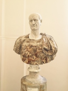 Bust of Vespasian, who with Titus destroyed Jerusalem in 70 AD In Naples Museum of Archaeology