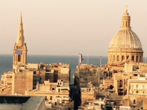 Each morning in Valetta we awoke to this awesome view of a busy harbour overlooked by St Paul's sphere, the majestic dome of the Carmelite basilica and the St John's Catholic co-cathedral