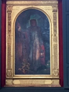 Holman Hunt's portrait of Revelation 3:20 ...one of three he painted This one in St Paul's Cathedral London