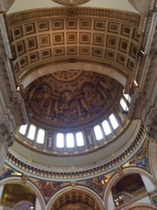 Inside the mighty dome of St Paul's Cathedral London