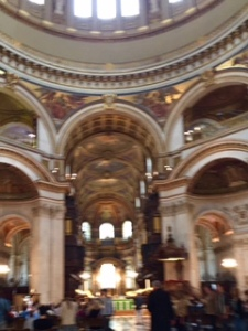 St Paul's Cathedral interior at the close of the 11.30am sung eucharist