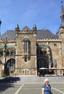 Aachen city hall (rathaus) itself laden with religious statues and carving