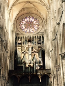 Rose window in the Crossing of Amiens Cathedral France