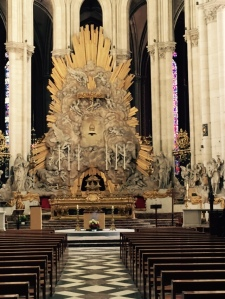 Extraordinary C19th addition to the high altar at Amiens Cathedral France. You either love it or hate it. I would give it a miss!