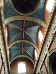 close up of ceiling in Jesuit Church in Blois