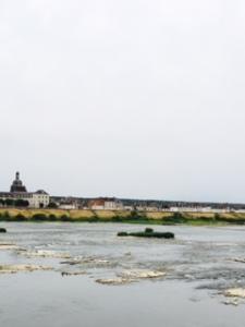 Loire River flowing rapidly through Blois
