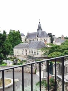 External view of Jesuit church above Blois Chateau
