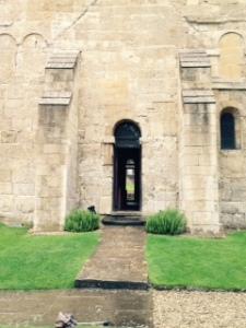 Entry to tiny Bradford on Avon Saxon church