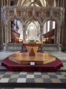 Striking Millenium Communion Table ..a radical move in the centre of Bristol Cathedral
