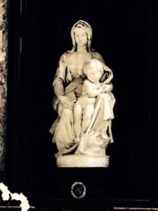 "Michelangelo's  ""Madonna and Child"" in Onze-Lievere Vrouwekerk in  Bruges"
