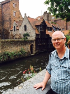 A very early C15th house sitting beside one of Bruges' wonderful canals