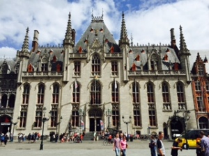 Bruges Grand Palace on the Markt Square