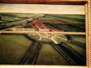 Amazing early painting of Hampton Court prior to the suburbs!