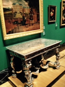 Silver table in the Queen's gallery