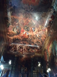 Burghley House ceiling painting of Hell by Giordano