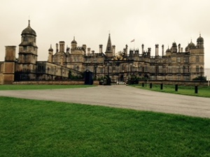 Burghley House exterior from the carpark