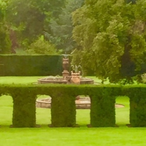 Burghley House formal garden (one of) with fountain