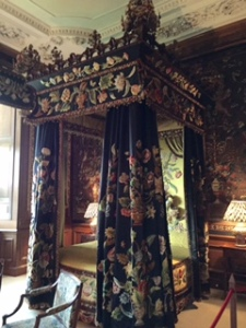 Burghley House one of many royal bedrooms